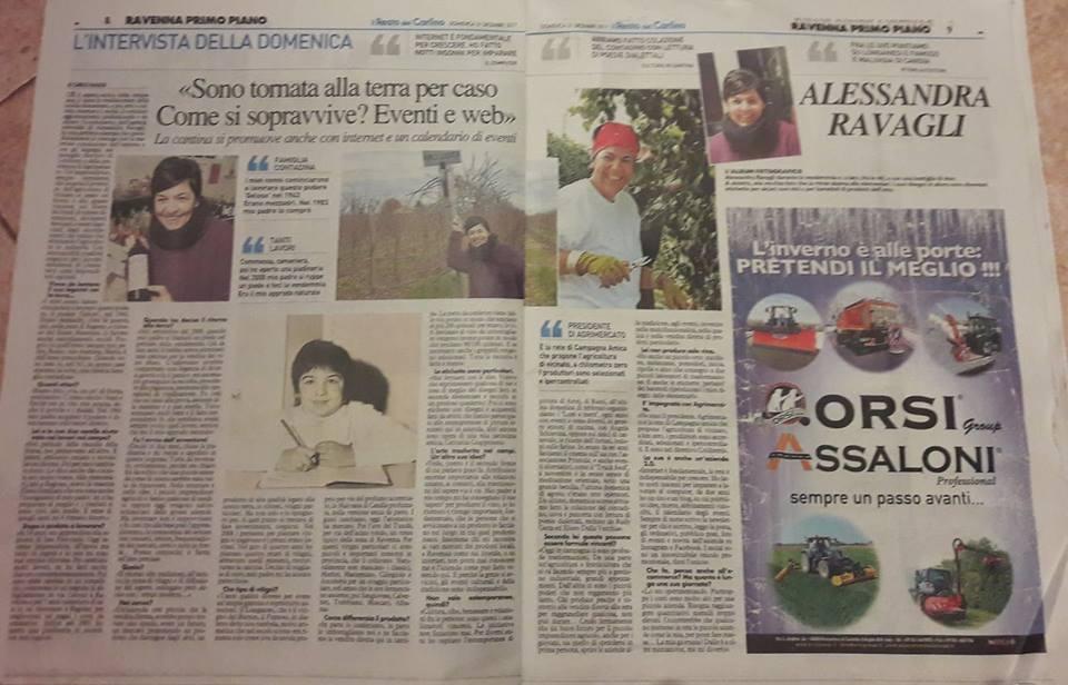 intervista al Resto del Carlino_ Alessandra Ravagli